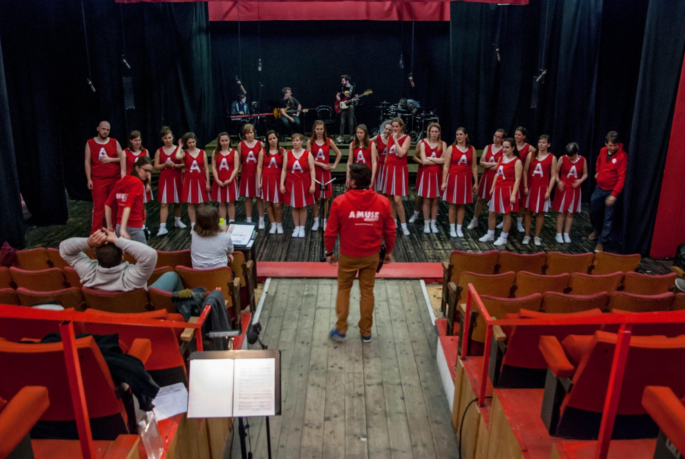 Repetitie Amuse Showkoor © Bart de Smet